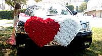 Украшение на машину двойное сердце