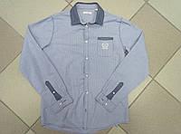 Рубашка детская на мальчика синяя Okaidi