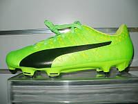 Футбольные бутсы Puma EVOPOWER VIGOR 4 FG green gecko/black/safety yellow