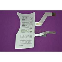 Пленочная клавиатура (сенсорная панель управления) микроволновой печи Samsung DE34-00219S CE283GNR(СЕРЕБРИСТАЯ)