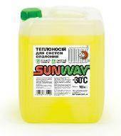 Теплоноситель для отопления Sunway до - 20, 10 л (из пищевого глицерина)