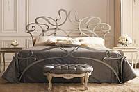 Кованая кровать OASIS GIUSTI PORTOS с изножьем. Реплика.