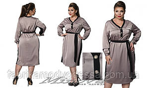 Женское платье из стрейч-атласа большого размера ТМ Минова ( р. 50-56 )