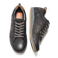 Кожаные мужские серые стильные удобные польские спортивные туфли 42 Mazaro