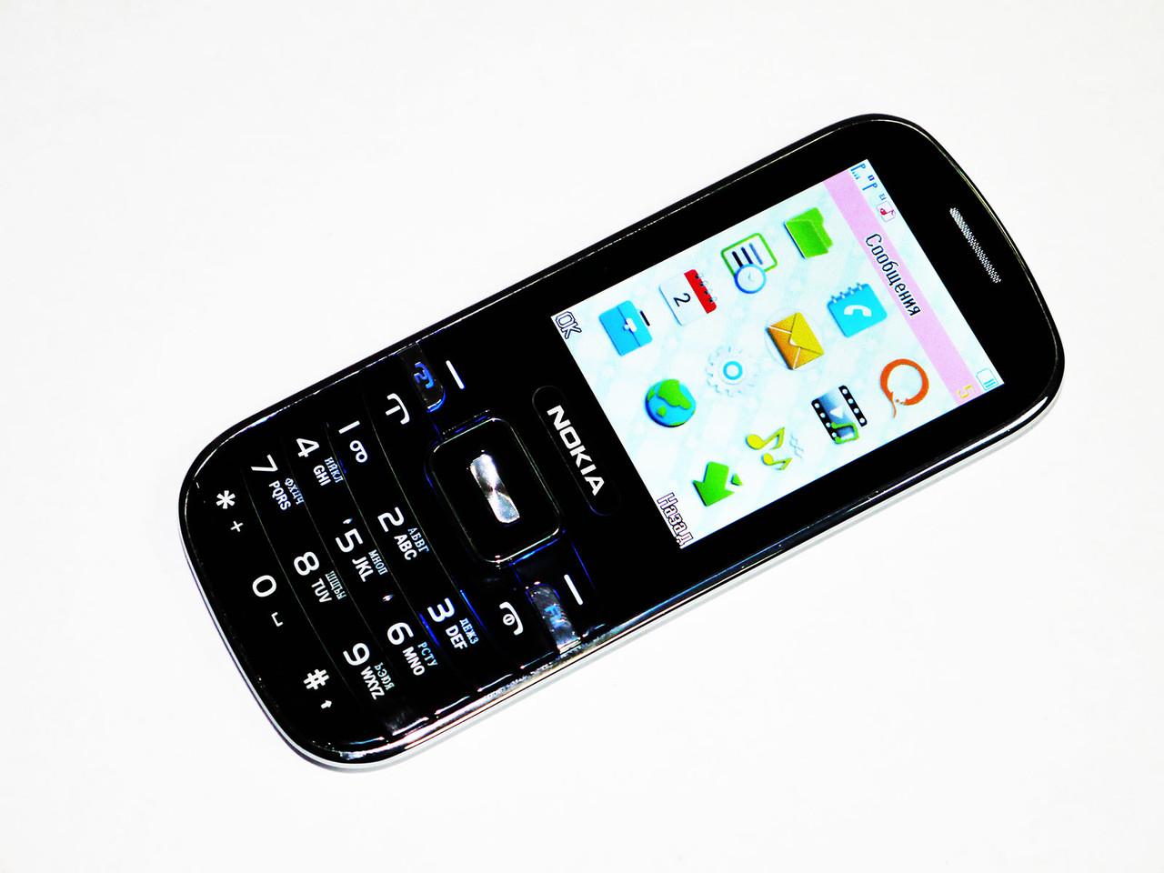 """Телефон Nokia S1Черный - 2,4""""+BT+Cam+Fm-тонкий корпус"""