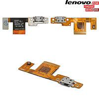 Шлейф для Lenovo B8080 Yoga Tablet 10 HD Plus, коннектора зарядки, с компонентами, оригинал