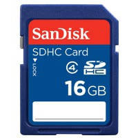 Карта памяти SANDISK SDHC 16GB Class 4