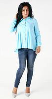 Элегантная блуза с рубашечным воротником