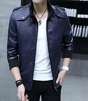 Мужская кожаная куртка. Модель 61156