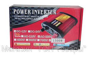 Преобразователь 1800 gm POWER INVERTER 1500-12 W!Акция, фото 3