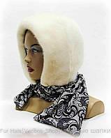 Платок женский из меха норковый (белый)