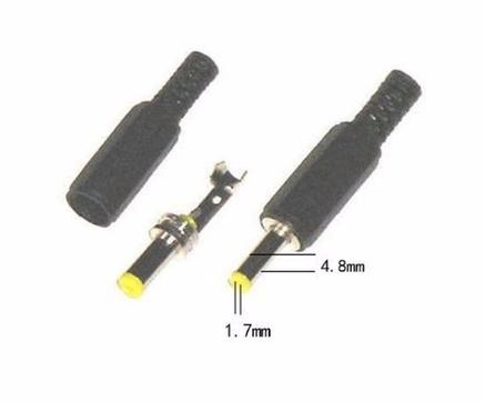 Роз'єм живлення штекер розбірної 4.8 х 1.7 мм мм, фото 2