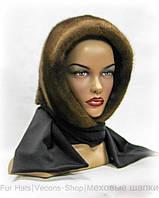 Женский меховой платок норковый (орех)