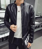 Мужская кожаная куртка. Модель 61158
