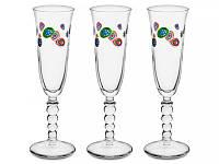 """Набор из 3 бокалов для шампанского 170 мл """"Мурано"""" 650-681"""