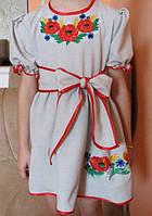 Вышитое детское платье Мак-колосок LL