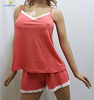 Домашний костюм женский шорты с майкой, пижама от 44 до 50 р-ра, Харьков, фото 2