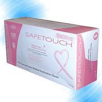 Перчатки розовые SafeTouch Pink,  Текстурированные