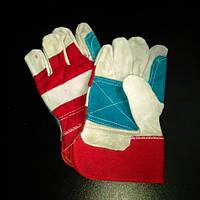Перчатки спилковые комбинированные(усил.) оптом
