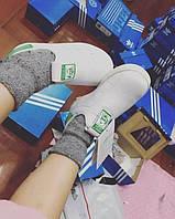 Кроссовки детские Adidas Stan Smith White/Green (адидас  кидс)
