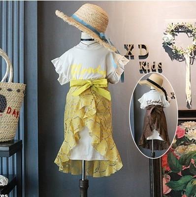 Платье с гипюровой юбкой для девочки