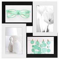 Настенная рамка для фотографий Руноко на 4 фотографий (зелёный)