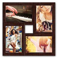 Настенная рамка для фотографий Руноко на 4 фотографий (Венге)