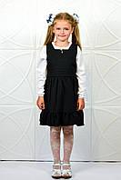 Детский школьный сарафан с пуговицами  АЧ