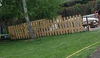 Декоративный деревянный забор для сада и детской площадки