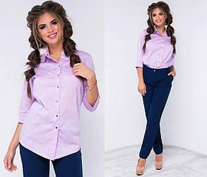Н2050  Женский костюм рубашка\брюки 42,44,46, фото 2