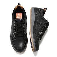 Кожаные черные спортивные туфли мужские Mazaro SD80-1