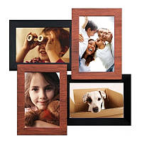Настенная рамка для фотографий Мельница на 4 фотографий (медное мерцание)