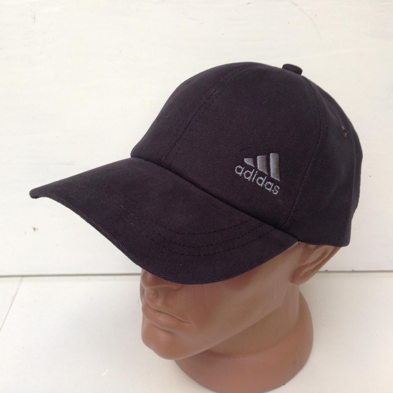 Кепка  Adidas мужская котоновая темно\серая, весна\осень