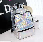 Рюкзак голограммный срібло