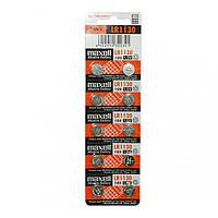 Часовая батарейка Maxell LR 1130 / 189 / 389 (390) / AG13