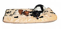 Матрац Trixie Gino Cushion плюшевый, бежево-коричневый, 95х65 см, фото 1