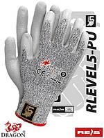 Защитные перчатки, выполненные из смеси стекловолокна и волокна UHMWPE RLEVEL5-PU BWS