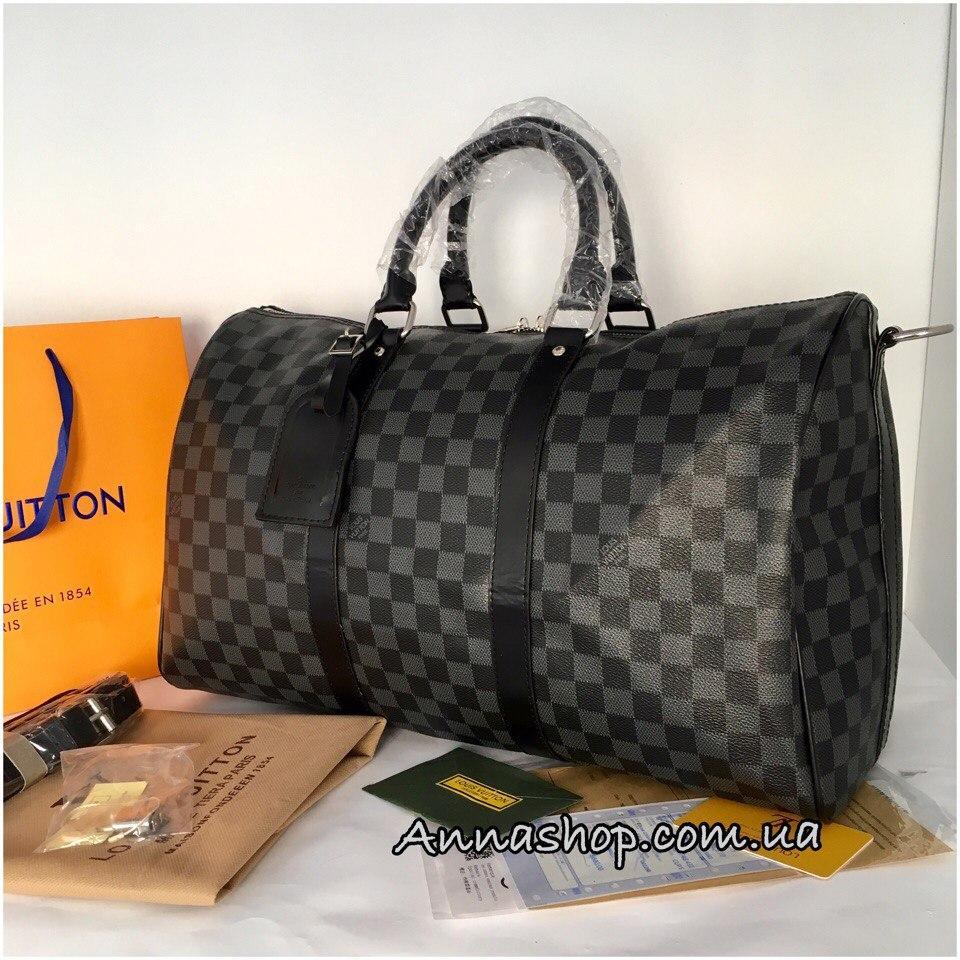 Дорожная сумка Louis Vuitton 45 см, 55 см Damier Graphite - Annashop.com. b0d4be3fd5f