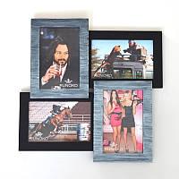 Настенная рамка для фотографий Верона на 4 фотографий (серебряное мерцание)
