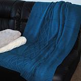 В'язаний Плед 140х180 Carmel синій SoundSleep, фото 2