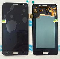 Дисплей (модуль) +тачскрин (сенсор) Samsung Galaxy J3 2016 J320A J320F J320H J320M черный яркость регулируется