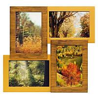 Настенная рамка для фотографий Валенсия на 4 фотографий (двойное золото)
