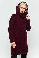 """Пальто с капюшоном """"Стефани"""" бордовое"""