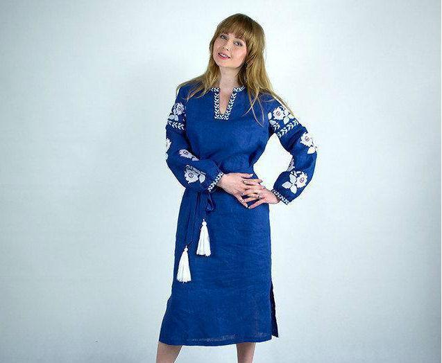 Оригинальное женское платье с вышивкой  продажа, цена в Хмельницком ... 9ac873c779f