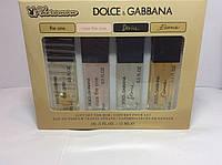 Духи с феромонами для женщин Dolce Gabbana ( Набор Дольче Габана женский 15мл 4 шт)