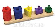 Игрушка деревянная Пирамидки на платформе Melissa&Doug