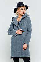 """Пальто с капюшоном """"Стефани"""" серое"""