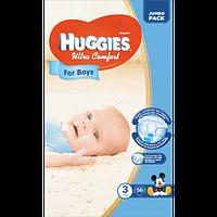 Подгузники детские Huggies Ultra Comfort 3, 5-9 кг 56 шт для мальчиков Jumbo Pack