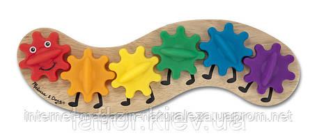 Деревянная игрушка Гусеница Melissa&Doug, фото 2