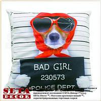 """Наволочка """"Dog bad girl"""" 43х43 см декоративная"""